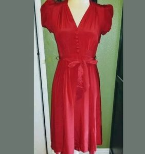 Betsey Johnson vintage 90s red silk dress